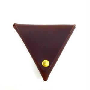 三角コインケース【レッドブラウン】