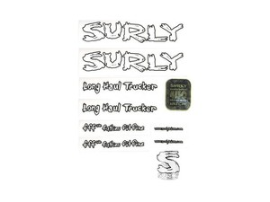 "SURLY ""Long Haul Trucker DECAL"" White"
