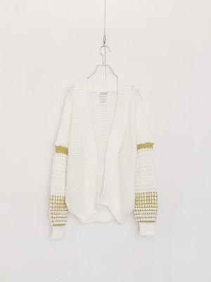 透かし編みカーディガン 白