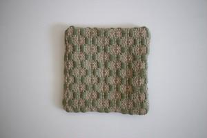 新美典子(perico畑)|手織りのコースター 草色