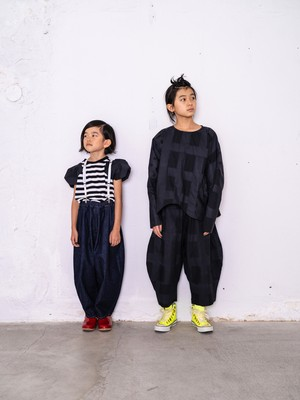 【21SS】フランキーグロウ ( frankygrow )ORIG CHECK BIG PANT[ S / M / L ]black-black パンツ