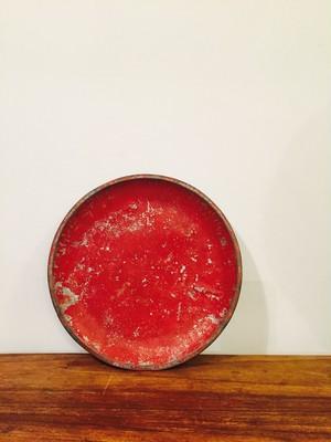 トタンの繭皿(赤)