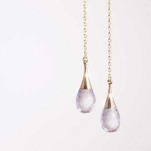 Drop american earrings / Amethyst