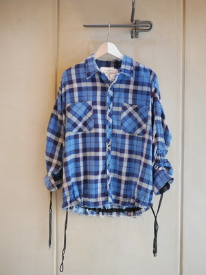 OLD PARK / SHIRRING SHIRT (NO.3)