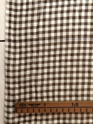 Khadi Cotton + Silk /  ブラウン × ホワイト