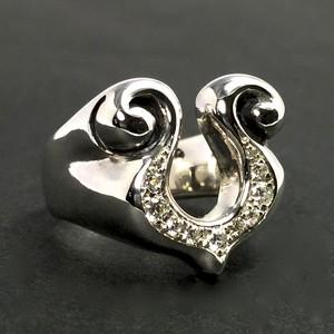 RHYTHMIC HORSESHOE RING with DIAMOND / リズミックホースシュー リング・ダイヤモンド