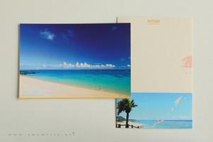 奄美ポストカード「まぶしい浜辺」