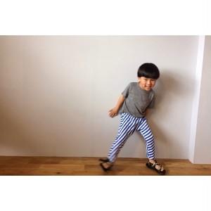 Simva Kids 524-0001BLUE サルエルボーダーパンツ