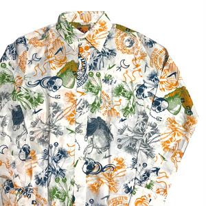 ブードゥー 総柄 L/Sシャツ