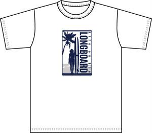 Life on the LongboadオリジナルTシャツ:デザインD(ホワイト)