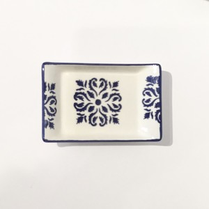 小皿 (長方形) ブルーxターコイズブルーxホワイト