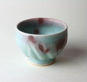 海の色の湯飲み NO.1 /青磁 /釉裏紅 /陶芸 /茶器 /湯呑 /celadon /glaze / blue