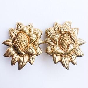 """""""Monet"""" gold flower earring[e-1046]"""