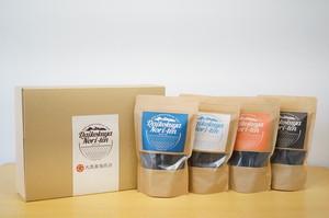 "seaweed ‶nori"" 4種類(味付け海苔・しお・ブラックペッパー・明太子)★ギフトボックス・手提げ袋付き"