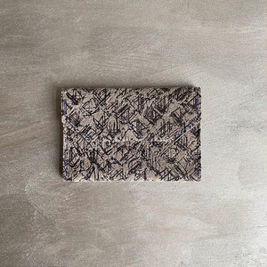 -Etching- Leather card case【carmine】