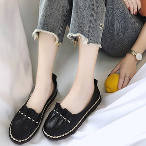 【flat-shoes】sweet PU Korean style  ladies 2018 new loafer