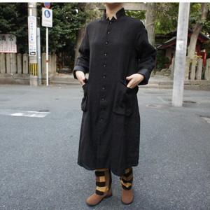 ICHI Antiquite's(イチアンティークス) ファーマーズロングコート ブラック