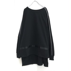 【10.2再入荷 】keisukeyoneda drop shoulder line sweat black