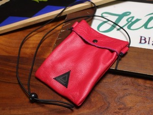 Leather Sacoche RED 02