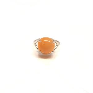 【PT900】Orange moon stone ring