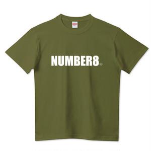 【受注生産】Number8(ナンバーエイト) ホワイトロゴスモールダイヤモンドTシャツシティグリーン(United Athle)