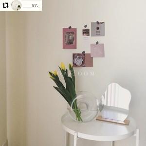 クリアドーナッツフラワーベース(花瓶) R1013