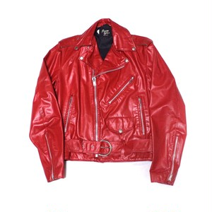 Leather riders jacket red