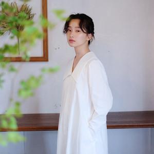Sailor collar long blouse  [ White ]