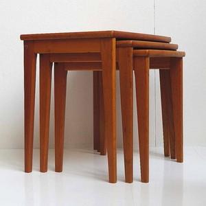 デンマーク製チーク材ネストテーブル no.155