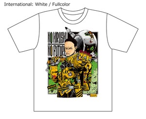 [White / Fullcolor] Collaborative T-shirt by Hiroshi Matsuyama (CyberConnect2) and jbstyle.