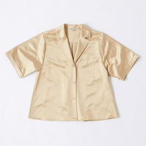 【FILL THE BILL】《WOMENS》SATIN WESTERN SHIRTS - CHAMPAGNE GOLD