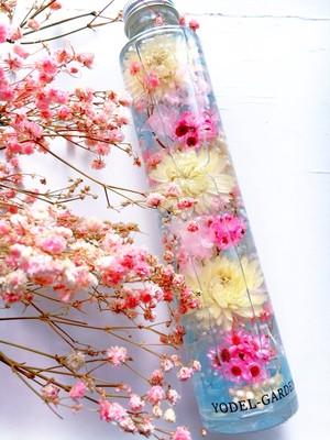 ハーバリウム(L) 黄色いヘリクリサムとピンクの小花