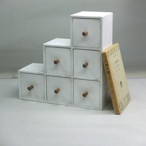 段々ボックス アンティーク白 Sサイズ70