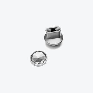 YEC Whistle Drip Tip & Diamond button (Ti/Raw)
