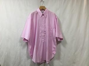 """""""在庫有り""""Marvine Pontiak shirt makers B.D P/O SH Pink Stripe"""""""