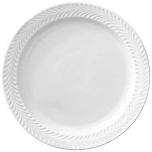 波佐見焼 翔芳窯 ローズマリー リムプレート 皿 23.5cm マットホワイト