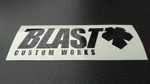 BLAST ロゴカッティングステッカー(黒)