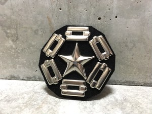 Studded Leather Badge(Star&Chain Suede Ver.)