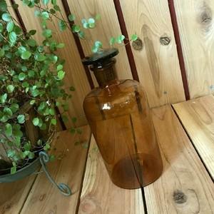≫ヴィンテージ*古い昔の蓋付きガラス瓶*気泡硝子薬瓶*昭和レトロビンテージアンティーク古道具ビンゆらゆら時代びんドライフラワー収納