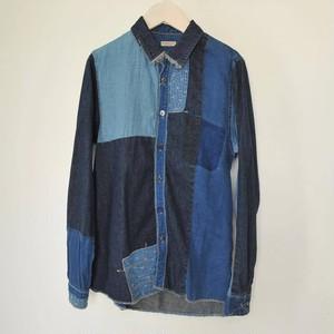 キャピタル 綿×リネンIDGパッチカトマンズシャツ