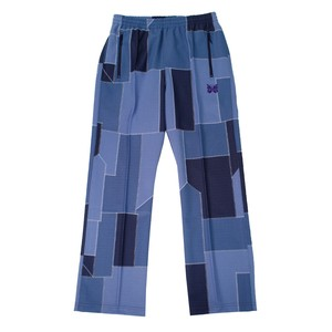 NEEDLES Patchwork Track Pants Blue