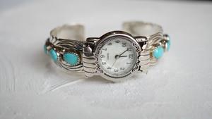 ナバホ族 ビンテージ ターコイズ腕時計