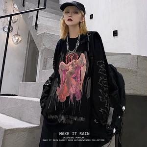 【トップス】暗黒系ファッションストリート系長袖Tシャツ33868355
