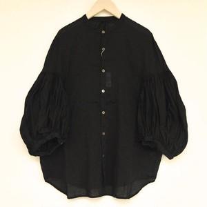 キャピタル 一重ガーゼバンドカラーブッファンシャツ(ブラック)