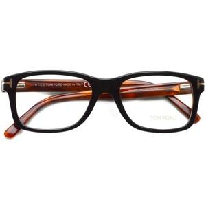 トムフォード TOM FORD / TF5163 アジアンフィット / 005 Black/Red tortoise ブラック/レッドトータス 黒縁 メガネ フレーム
