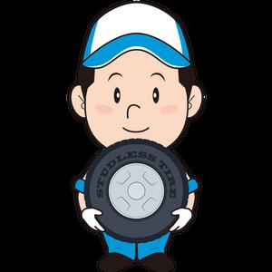 タイヤ交換する男性整備士