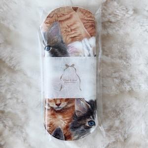 Siamese 猫柄布ナプキン Sサイズ(猫いっぱい)