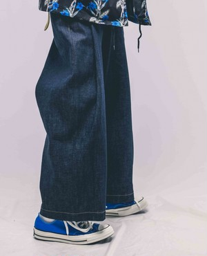 [予約商品]EFFECTEN(エフェクテン) tuck wide denim pants(rigid)