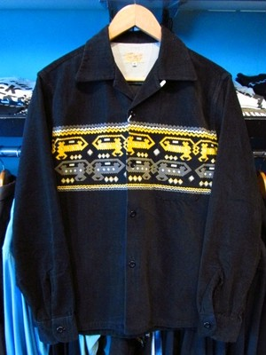 L/Sコーデュロイシャツ DEVILDOGS ブラック STYLEEYES