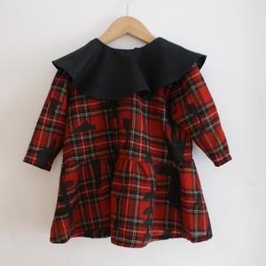 切り絵プリント/ girl 90cm dress ○○オリジナルプリントのスペシャルドレス○○